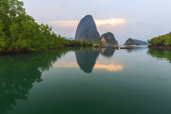 Beautiful Sunrise at Samet Nang She View Point at Phang Nga province Thailand Royalty Free Stock Photos