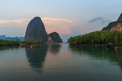 Beautiful Sunrise at Samet Nang She View Point at Phang Nga province Thailand Stock Photo