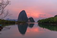Beautiful Sunrise at Samet Nang She View Point at Phang Nga province Thailand Stock Photos