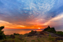 Beautiful sunrise. At Samila beach Songkhla,Thailand royalty free stock photo