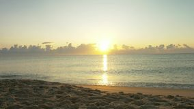 Beautiful sunrise on the sea.  stock video