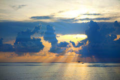 Beautiful sunrise on sea Stock Photo
