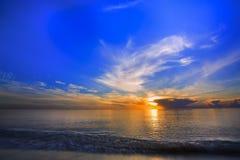 Beautiful sunrise. At the sea royalty free stock photo