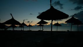Beautiful sunrise on the sea stock video