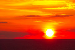 Beautiful sunrise in the sea. Beautiful sunrise on the black sea Royalty Free Stock Photography