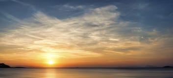 Beautiful sunrise on the sea Royalty Free Stock Image