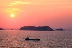 Beautiful sunrise at seascape Stock Image