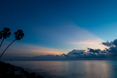 Beautiful sunrise seascape and cloud.  Royalty Free Stock Photography