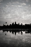 Beautiful sunrise, Silhouette of Angkor Wat at sunrise, the best time in the morning at Siem Reap, Cambodia Stock Photography