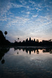Beautiful sunrise, Silhouette of Angkor Wat at sunrise, the best time in the morning at Siem Reap, Cambodia Stock Photos
