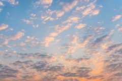 Beautiful sunrise sky and cloud in the morning Royalty Free Stock Image
