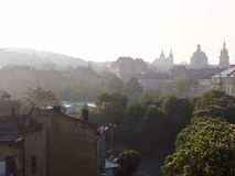 Beautiful sunrise in the spring Lviv Stock Photography