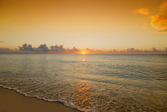 Beautiful sunrise sunset over caribbean sea Stock Photography