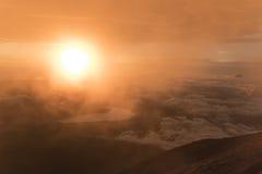 Beautiful sunrise on top of the Mount Fuji, Japan Stock Photography