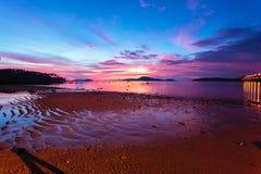Beautiful sunrise at the tropical beach Stock Photo