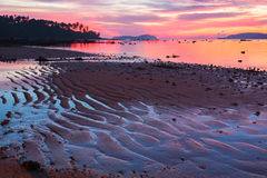 Beautiful sunrise at the tropical beach Royalty Free Stock Photography