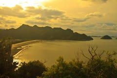 Beautiful sunrise on tropical sea Royalty Free Stock Photo