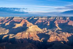 Morning Shadows over the grand Canyon royalty free stock photos