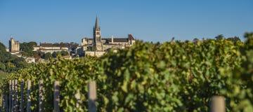 Beautiful sunrise village of Saint Emilion, Vineyard, Gironde. France, Europe royalty free stock photo