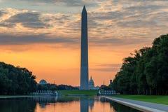 Washington Monument at sunrise in Washington DC, USA