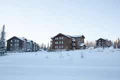 Beautiful sunrisre in Trysil mountain Stock Images