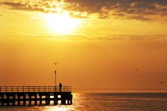 Beautiful Sunset. Over Baltic sea Royalty Free Stock Images