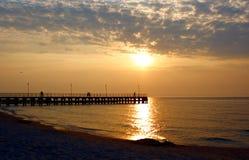 Beautiful Sunset. Over Baltic Sea Stock Photos