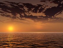 Beautiful sunset Royalty Free Stock Photography