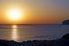 Beautiful sunset. A beautiful sunset in Crete, Greece Stock Photos
