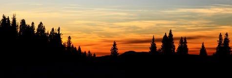 Beautiful sunset. In Smrekovica, Slovakia stock images