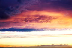 Beautiful sunset above the city with beauty vivid  sky. Stock Images