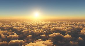 Free Beautiful Sunset Above Clouds Stock Photography - 123000092