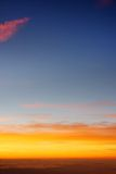 Beautiful sunset above the clouds Royalty Free Stock Image
