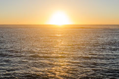 Beautiful sunset above the ocean Royalty Free Stock Images