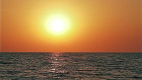 Beautiful sunset above the open sea Royalty Free Stock Image