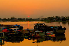 Beautiful sunset above the River Royalty Free Stock Images