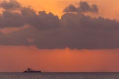 Beautiful sunset above the sea Stock Photo
