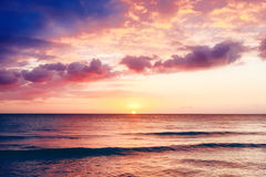 Beautiful sunset above the sea. Stock Photos
