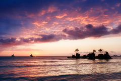 Beautiful sunset above the sea. Stock Photo