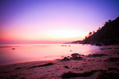 Beautiful sunset above the sea on island in Koh Royalty Free Stock Image