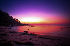 Beautiful sunset above the sea on island in Koh Stock Photography