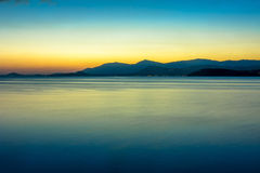 Beautiful sunset above the sea on island Royalty Free Stock Photography