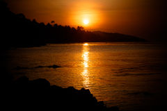 Beautiful sunset above the sea on  Koh Samui Royalty Free Stock Images