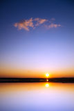Beautiful sunset above the sea. Royalty Free Stock Photography