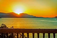 Beautiful sunset above the sea on Samui island Stock Photos