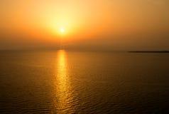 Beautiful sunset above the sea. Sardinia. Italy Stock Photography