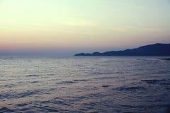 Beautiful sunset above the sea. Sardinia Stock Photos