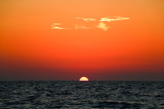 Beautiful sunset above the sea Stock Photography