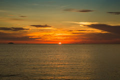 Beautiful sunset above the sea Stock Image