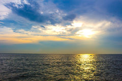 Beautiful sunset above the sea Royalty Free Stock Image